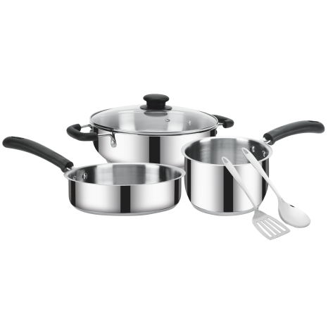 IRIS 6 Pcs GIFT SET (Kadhai/Frypan/Glass Lid/Saucepan/Two Spactuala)