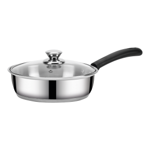 IRIS- BELLY FRYPAN - 20CM (1.6Ltr) WITH Glass  Lid (IB)