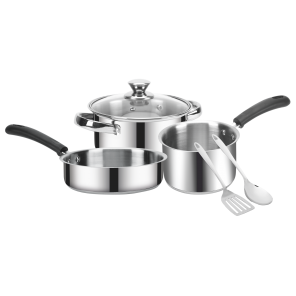 IRIS 6 Pcs GIFT SET (Casserole Belly/Frypan/Saucepan/Two Spactuala)